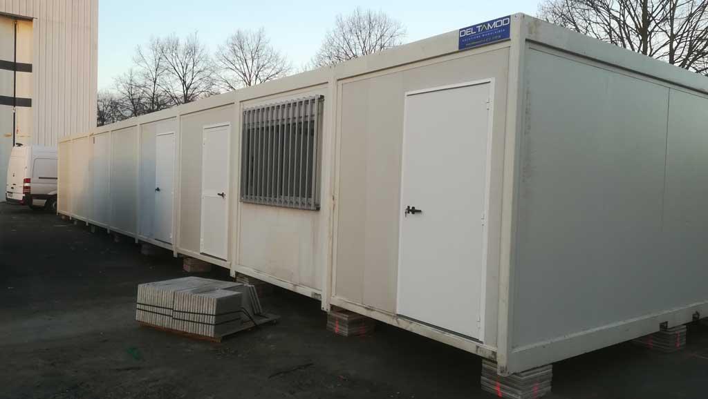 projet de vestiaires et sanitaires modulaire