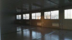 intérieur des vestiaires modulaire