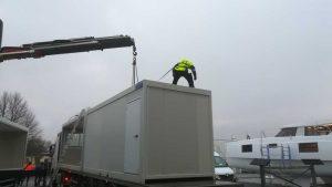 transport du sanitaire modulaire