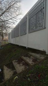 vue de derrière bungalow modulaire