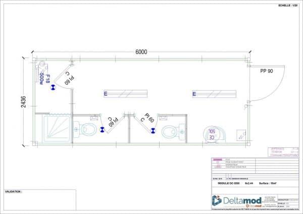 Sanitaire vestiaire modulaire