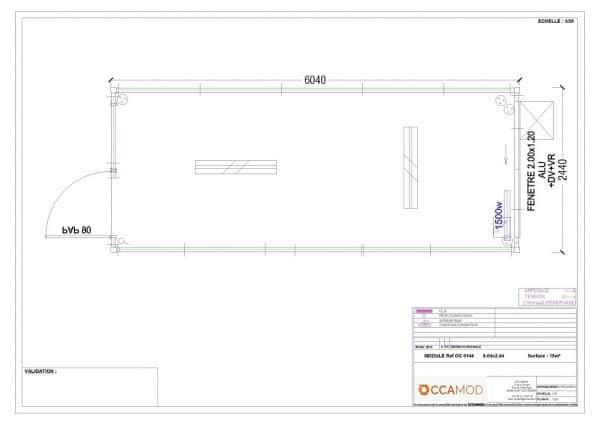 Bureau bungalow modulaire