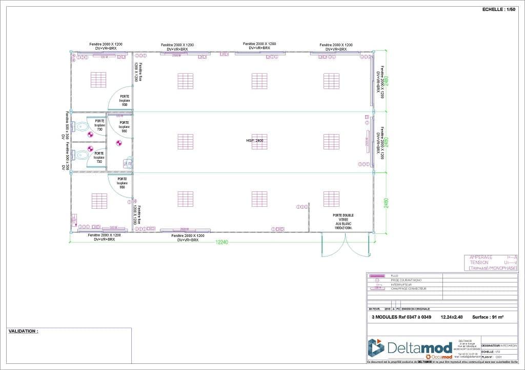 bureau modulaire deltamod