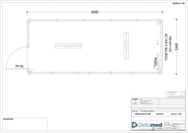 Bâtiment bureau modulaire