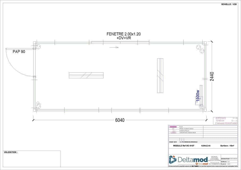 Bureau modulaire