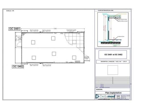 Bâtiment modulaire de 50m²