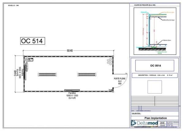 Bâtiment modulaire 15m²