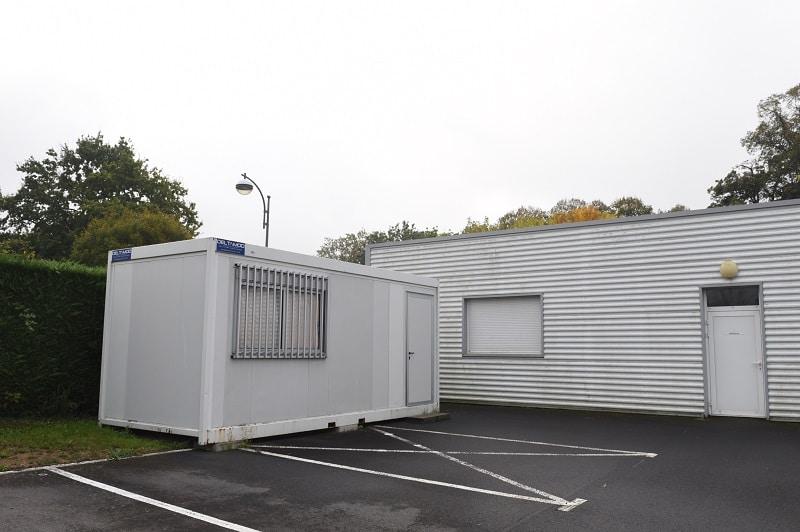 modulaire occasion Occamod installé comme bureau modulaire au service technique de basse-goulaine (44)